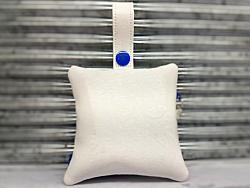 Blue Daisy Flower Poop Bag Holder Dispenser Personalized-dog poop bag holder, dispenser, waste bag holder, dog duty bag, blue, white, flower, daisy, floral, girl, boy, poop, bag, personalized